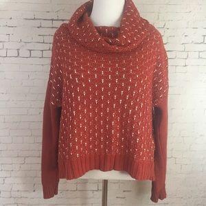 Nine West Cropped Oversized Sweater Sz L